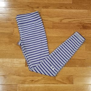 UA gray with blue stripes buttery soft leg…
